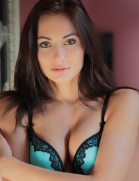 The gorgeous Michaela Isizzu in stunning lingerie that accentuates her slim body